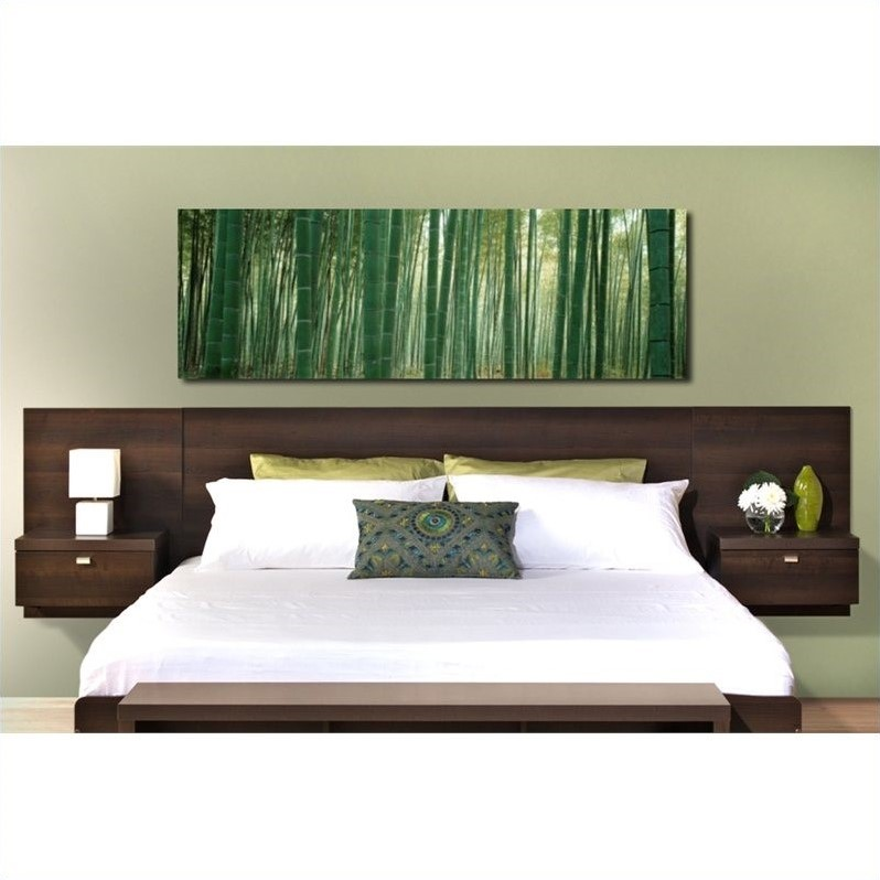 Floating headboard with nightstands in espresso ehhx 0520 2k - Floating chair for bedroom ...