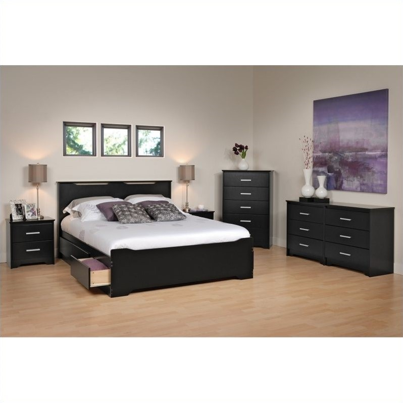 5-Piece Queen Bedroom Set in Black