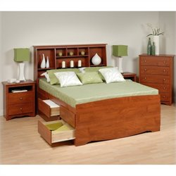 4-Piece Tall Queen Bedroom Set in Cherry