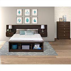 3-Piece Bedroom Set with Chest in Espresso