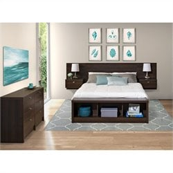 3-Piece Bedroom Set with Dresser in Espresso