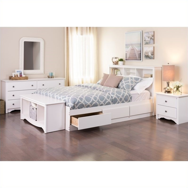 Queen 5 Piece Bedroom Set in White
