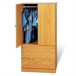 Prepac Juvenile TV Wardrobe Armoire in Oak
