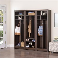 Entryway 3 Piece Wall Organizer in Espresso