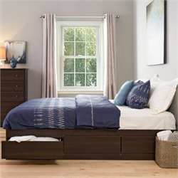 Prepac Manhattan Platform Storage Bed in Espresso