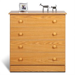 Prepac Juvenile 4 Drawer Chest in Oak