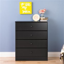 4 Drawer Chest in Black