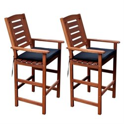 Bar Stool in Cinnamon Brown (Set of 2)