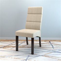 Upholstered Side Chair in Cream (Set of 2)