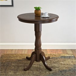 Pub Table with Pedestal Base in Dark Brown