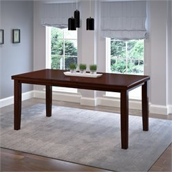 Extendable Counter Height Dining Table in Warm Brown