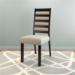 Ladder Back Side Chair in Cream (Set of 2)