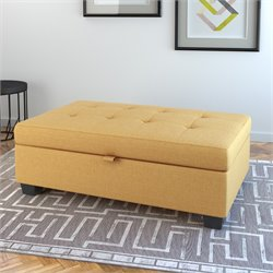 Storage Ottoman in Yellow