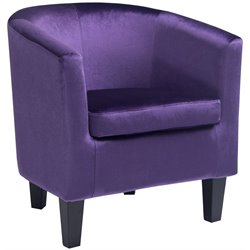 Barrel Chair in Purple Velvet