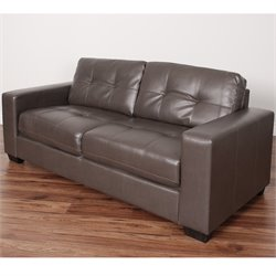 Tufted Leather Sofa in Brown