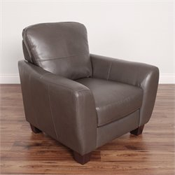Leather Club Chair in Brown