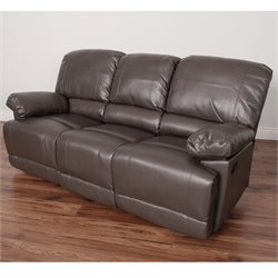 Leather Reclining Sofa in Brown