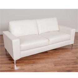 Contemporary Leather Sofa in White