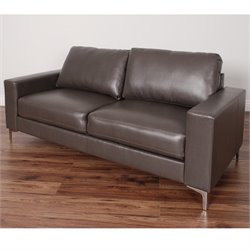 Contemporary Leather Sofa in Brown