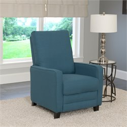 Linen Recliner in Blue