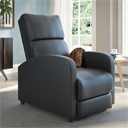 Leather Recliner in Black