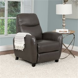 Leather Recliner in Brown