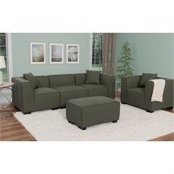 5 Piece Sectional Sofa Set in Army Green