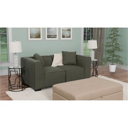 2 Piece Sectional Loveseat in Army Green