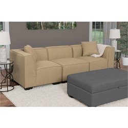 3 Piece Sectional Sofa in Beige