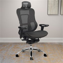 Deluxe Contoured Office Chair in Black