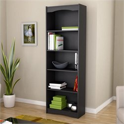 72' Tall Bookcase in Midnight Black