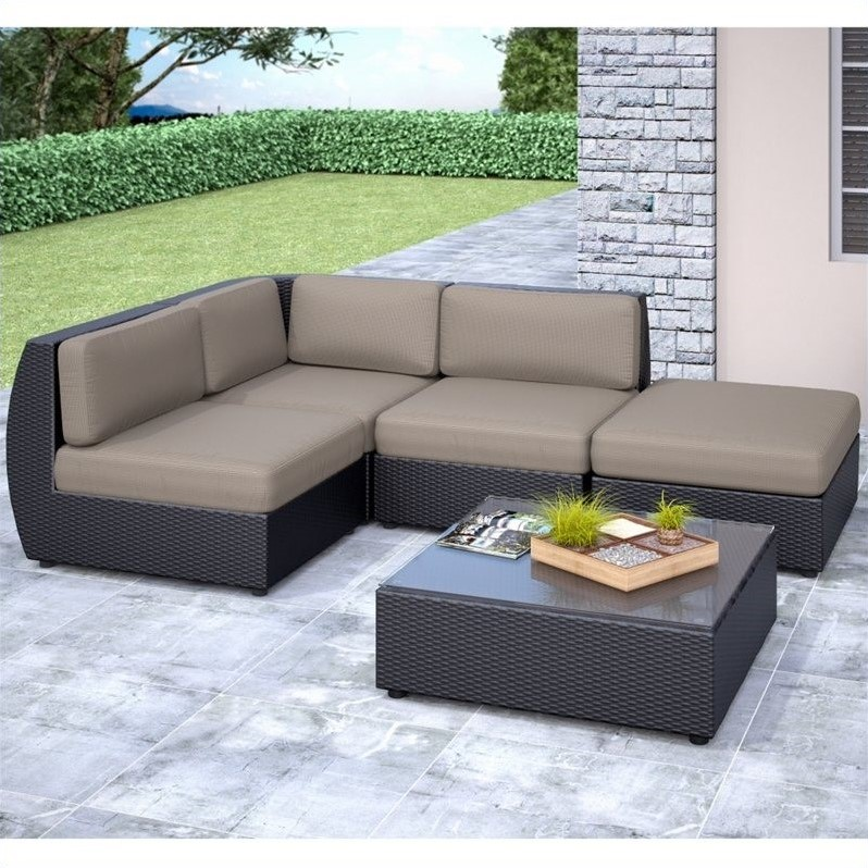 curved 5 pc sectional chaise lounge patio set pps 601 z. Black Bedroom Furniture Sets. Home Design Ideas