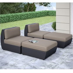 Curved Patio Lounger (Set of 4)