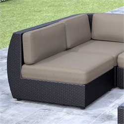 Patio Middle Seat in Textured Black Weave