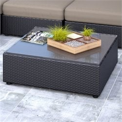 Patio Table in Textured Black Weave