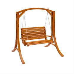 Wood Canyon Cinnamon Brown Stained Patio Swing