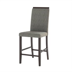 Dining Chairs in Pewter Grey Sand Fabric (Set of 2)