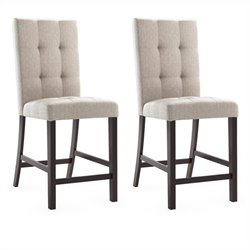 Dining Chairs in Platinum Sage Tufted Fabric (Set of 2)