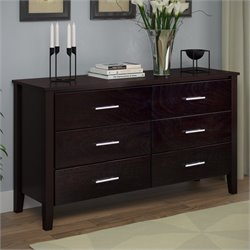 Wide Dresser in Dark Cappuccino