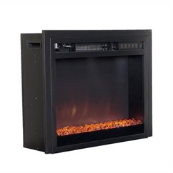 Electric Fireplace Insert in Black