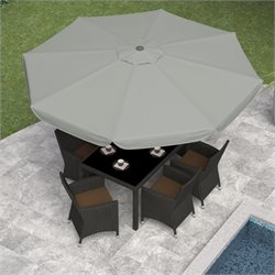 Tilting Patio Umbrella in Sand Gray