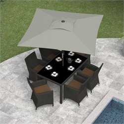 Square Patio Umbrella in Sand Gray