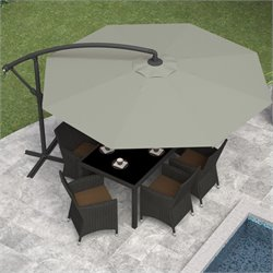 Patio Umbrella in Sand Gray