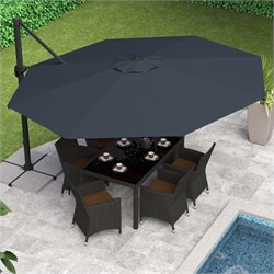 Deluxe Offset Patio Umbrella in Black