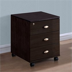 3-Drawer Storage Cabinet in Rich Espresso