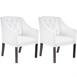 Accent Club Chair in White (set of 2)