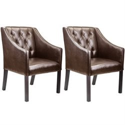 Accent Club Chair in Brown (set of 2)