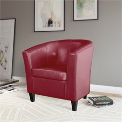 Club Chair in Red