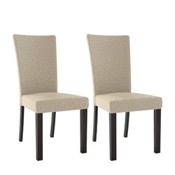 Dining Chair in Woven Cream (Set of 2)