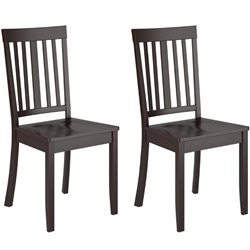 Stained Dining Chair in Cappuccino (Set of 2)